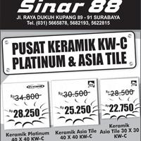 Keramik Platinum 40×40 KW-C Rp 28.250 | Keramik Asia Tile 40×40 KW-C